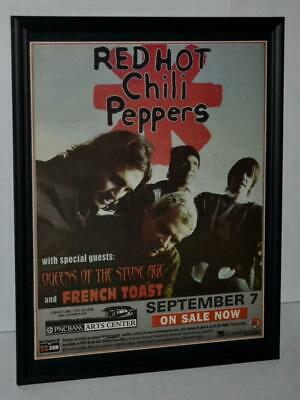 $34.99 • Buy Red Hot Chili Peppers 2003 Pncbank Arts Center Framed Concert Promo Poster / Ad