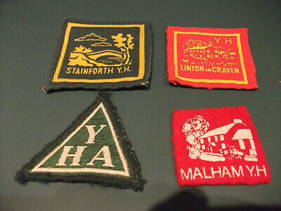Vintage 1970s YHA Cloth Badges - Linton In Craven, Stainforth, Malham - Used • 5£