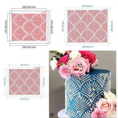 £3.94 • Buy Wheat Spike Pattern Cake Stencil Lace Cake Boder Stencils Template Drawing MoBE