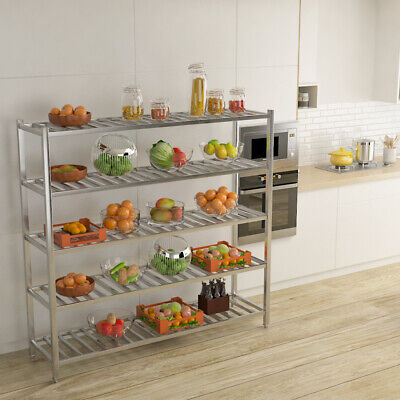 Commercial Kitchen Shelving Rack Stainless Steel Storage Shelf Racking Catering • 199.14£