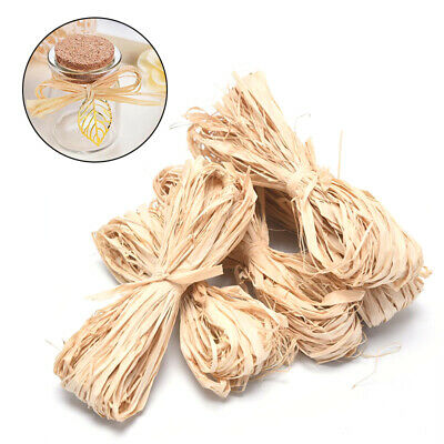 £2.79 • Buy 10X Raffia Natural Rope Crafts Wedding Gift Wrapping Cord Twine DIY Scrapbook BE