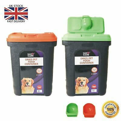 £14.99 • Buy 30l Pet Food Container Dog Cat Animal 15kg Dry Feed Seed Storage Box Bin & Scoop
