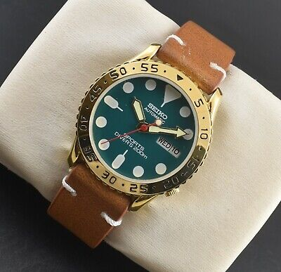 $ CDN40.58 • Buy Vintage Seiko Automatic Sports 17 Jewels Gold Plated Day Date Men's Wrist Watch