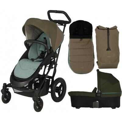 Britax Affinity Stroller Pushchair Black Thunder Carry Cot Baby Car Seat Adaptor • 388.99£