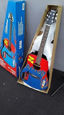 $ CDN310.17 • Buy Jeff Gordon NASCAR Signature Series Acoustic Silvertone Guitar NEW