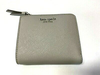$ CDN41.88 • Buy Kate Spade Cameron Small L-zip Bifold ID Wallet In Soft Taupe Saffiano Leather