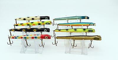 $ CDN13.71 • Buy Vintage Tackle Lot Of (8) Wood Pencil Popper Top Water Walleye Bass Fishing Lure