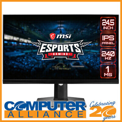 AU639 • Buy 25  MSI Optix MAG251RX FHD RGB G-Sync IPS Gaming Monitor With Height Adjust