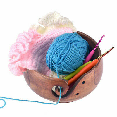 15x8cm Wood Yarn Bowl Holder Bowls For Knitting Crochet Yarn Winder Yarn • 13.04£
