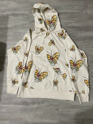 $ CDN221.22 • Buy SUPREME X Gonz Butterfly Hoodie White Size Large New With Stain Multi Color