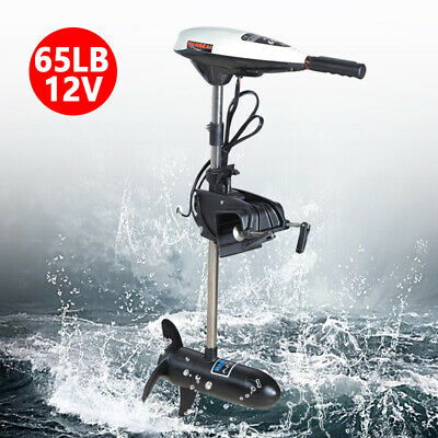 AU231.80 • Buy 65lbs Electric Trolling Motor Inflatable Boat Outboard Motor Boat Engine 12V NEW