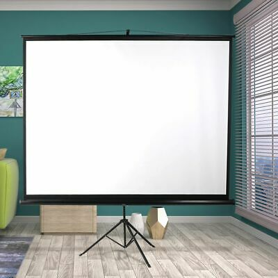 AU116.30 • Buy 100 Inch Projector Screen Tripod Stand Home Pull Down Outdoor Screens Cinema 3D
