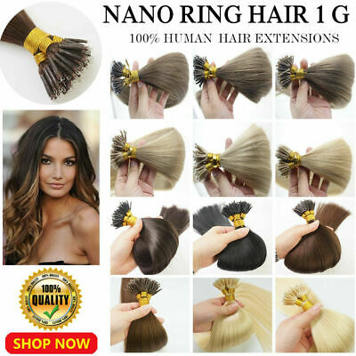 £30.28 • Buy Nano Ring Tip Micro Beads Link Remy Human Hair Extensions Double Drawn Thick1g/s