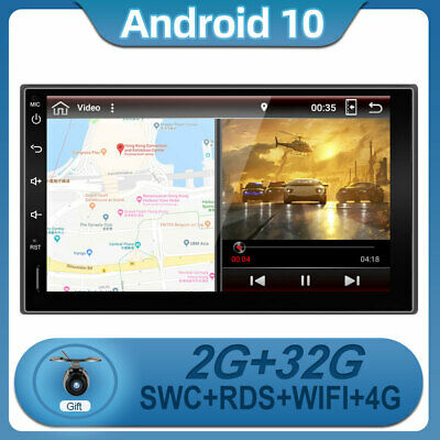 AU165.99 • Buy 7''Car Stereo Android 10 2Din GPS Head Unit Radio  Navi SWC BT 4G WIFI DAB+ AUX