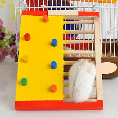 Hamster Wood Climbing Ladder Guinea Pig Non-slip Stair Exercise Toy Super • 4.90£