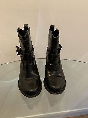 £15 • Buy Red Herring Black Leather Ankle Boot Size 6