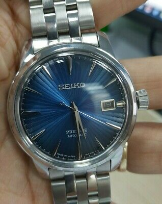 $ CDN146.63 • Buy Seiko Cocktail Presage Automatic Watch  Navy Blue Dial