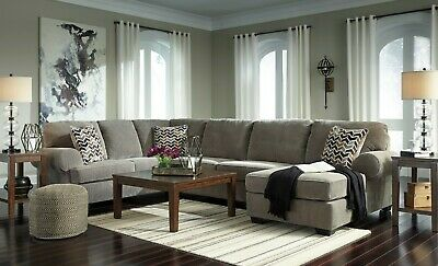 $1195 • Buy Ashley Furniture Jinllingsly Gray 3 Piece Sectional Living Room Set
