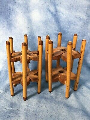 Two Antique Wooden Wool Yarn Winders, Primitive Vintage Thread Spinning 7 X 4  • 45.12£