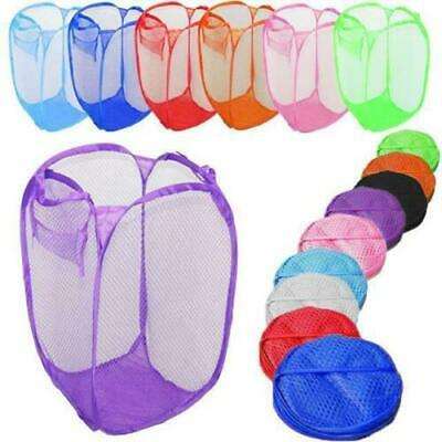 Laundry Bag Pop Up Mesh Washing Foldable Laundry Basket Bag Bin Hamper Storage • 3.45£