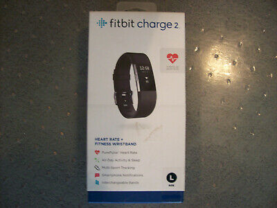 $ CDN26.17 • Buy Fitbit Charge 2 Stainless Steel Black Band Size Large