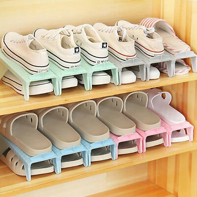 AU6.03 • Buy Adjustable Easy Shoes Organizers Shoes Slots Space Saver Small  Rack Holder RE
