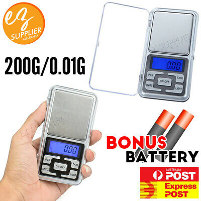 AU7.94 • Buy Mini Pocket Digital Scales 200/ 0.01g Balance Gram Jewellery Precision Weight EZ