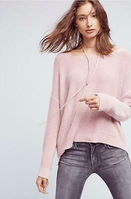 $ CDN41.80 • Buy Anthropologie Moth Size XS Fairview Pullover Pink Knit Cotton Long Sleeves New