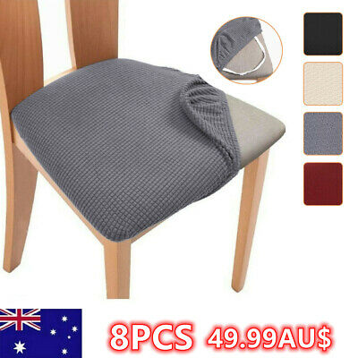 AU49.99 • Buy 4/8PCS Dining Chair Covers Kitchen Home Seat Cover Stretch Removable Slipcover#