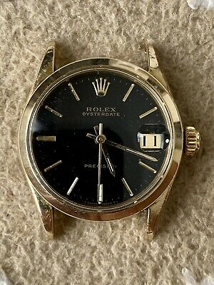 $ CDN1335.99 • Buy Vintage Rolexa Oyster Precision 6466 Gold Top Circa 1960 Black Dial Head Only