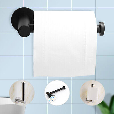 AU8.29 • Buy Stainless Steel AU Hook Mounted Toilet Paper Roll Holder Bathroom Wall Storage