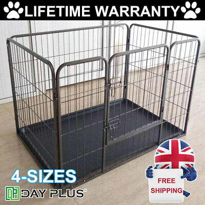 Heavy Duty Puppy Play Pen Dog Crate Whelping Box Rabbit Enclosure Dog Run Cage • 44.70£