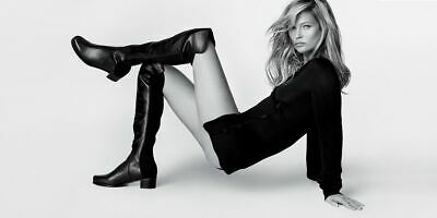 STUART WEITZMAN Reserve Stretch Back Leather Over The Knee Boots Size UK 3.5  • 199.99£