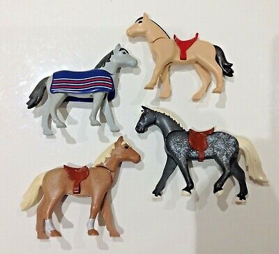 Playmobil Horses For Knights/ Western/ Farm/ Stable X4 • 12.99£
