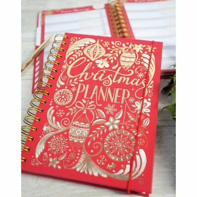 £15.95 • Buy Christmas Party Organiser Planner | Festive Red Party Diary Any Year