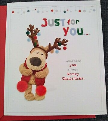 £2.49 • Buy Boofle  JUST FOR YOU   Cute Christmas Card- See Photos