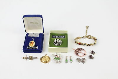 10 X Vintage SCOTTISH JEWELLERY Inc. Thistle, Mary Queen Of Scots, Longship • 1.20£