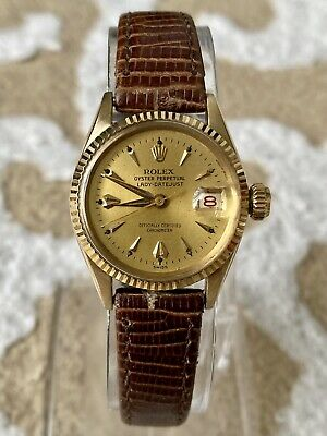 $ CDN927.72 • Buy Vintage Rolexa Oyster Perpetual Lady Datejust 6517 Solid Gold 18K Circa 1957