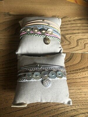 2x Boho Betty Leather Bracelet With Magnetic Clasp • 9.99£