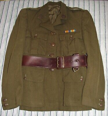 Original WW1 WW2 First Aid Nursing Yeomanry FANY Service Dress Tunic & Sam Brown • 130£
