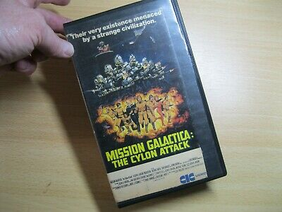 Mission Galactica - The Cylon Attack Pre Cert CIC VHS Video.  • 7.50£