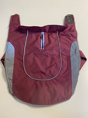 Pets At Home Ripstop Dog Jacket Berry Size Small, Waterproof, Reflective • 5£