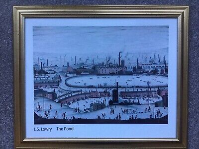 "Large Tate Gallery Framed Print L.s.lowry "" The Pond ""  • 14.99£"
