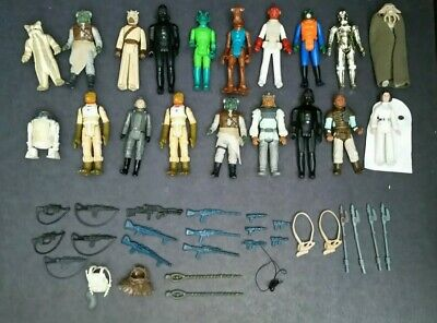 $ CDN82.32 • Buy Vintage Star Wars Lot Of Action Figures Plus Weapons And Accessories