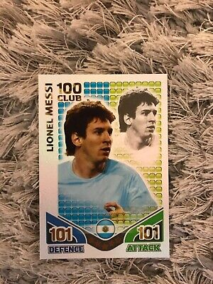 Match Attax 2010 World Cup Lionel Messi Hundred Club Card • 2.50£