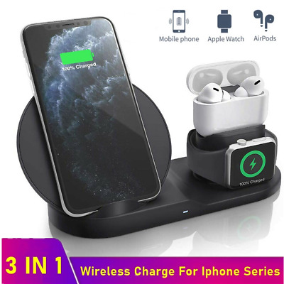 3in1 10W Wireless Charger Charging Dock Station For Apple Watch / IPhone/Air Pod • 14.99£