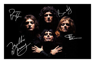 £5.99 • Buy Queen Signed A4 Photo Print Autograph Music Band Album Freddie Mercury Brian May