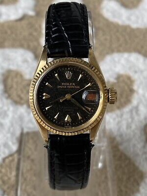 $ CDN1026.78 • Buy Vintage Rolexa Oyster Perpetual Lady Datejust 6517 Solid Gold 18K Circa 1957
