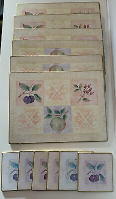 M&S Marks & Spencer Wild Fruits Set Of 6 X Placemats & 6 X Coasters • 6.50£
