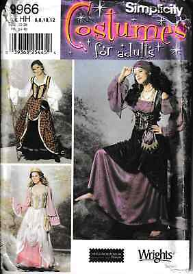 Renaissance Costume Pirate Peasant Wench Outfit Size: 6-12 Sewing Pattern • 3.99£